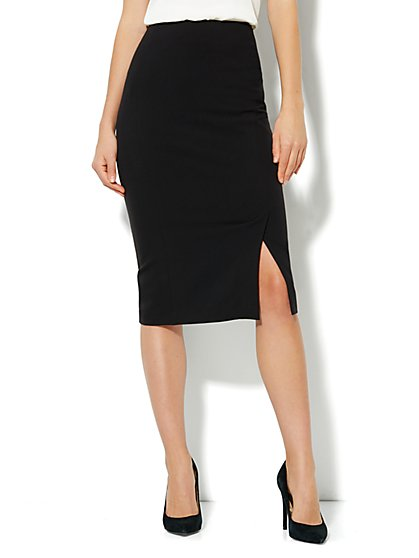 Bleecker Street Pencil Skirt - Black - New York & Company