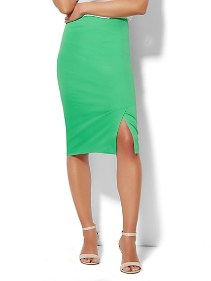 Bleecker Street Pencil Skirt - Cotton Sateen  - New York & Company