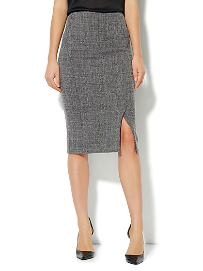 Bleecker Street Pencil Skirt - Heritage Tweed - New York & Company