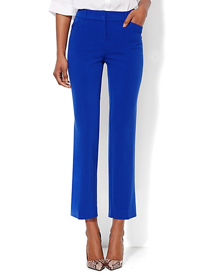 Bleecker Street Slim Ankle Pant - Solid  - New York & Company
