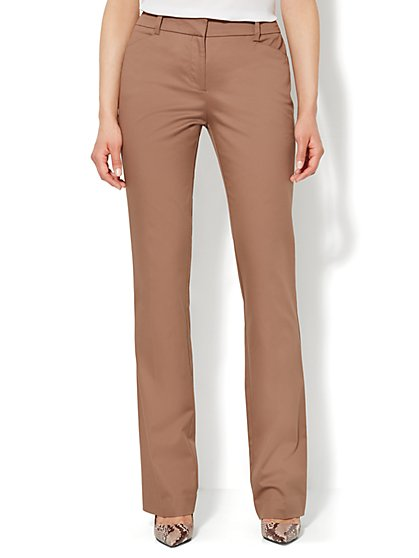 Bleecker Street Straight-Leg Pant - Cotton - Petite  - New York & Company