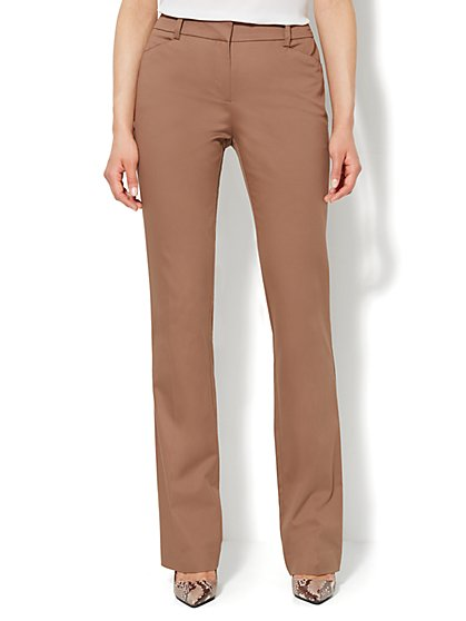 Bleecker Street Straight-Leg Pant - Cotton - New York & Company