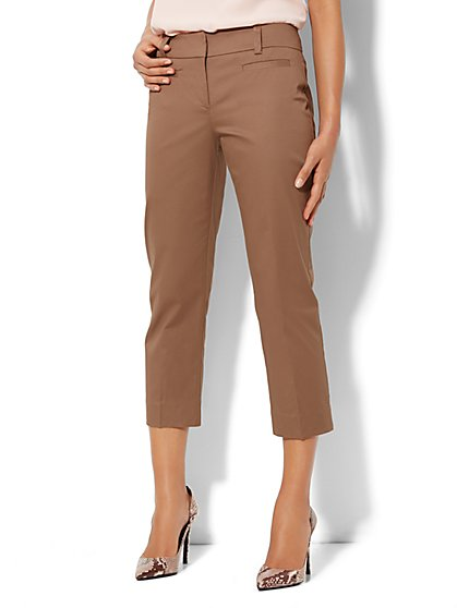Bleecker Street Straight-Leg Pant - Crop  - New York & Company