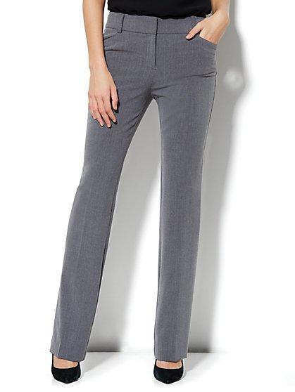 Bleecker Street Straight Leg Pant - Ellington Heather Grey - Tall  - New York & Company