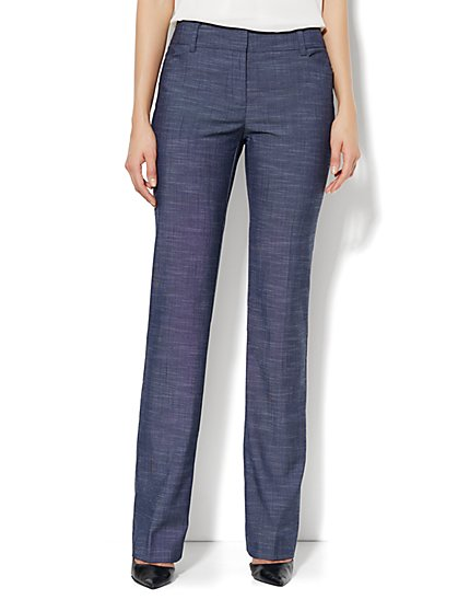 Bleecker Street Straight Leg Pant - Petite - Dark Blue  - New York & Company