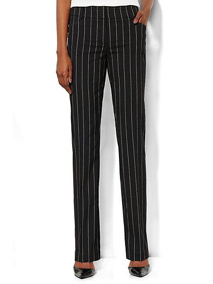 Bleecker Street Straight-Leg Pant - Pinstripe - Petite - New York & Company