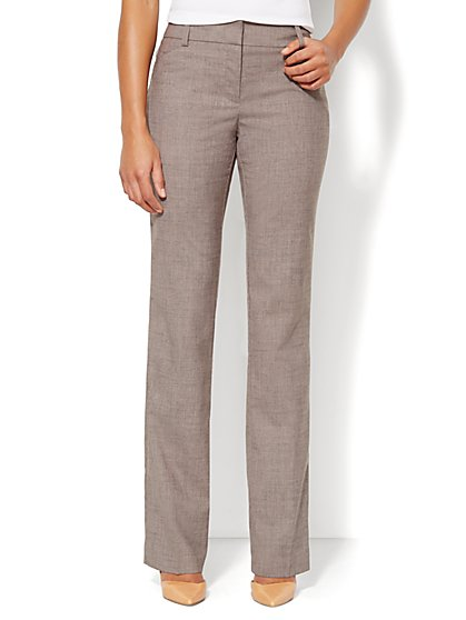 Bleecker Street Straight-Leg Pant - Soft Taupe  - New York & Company