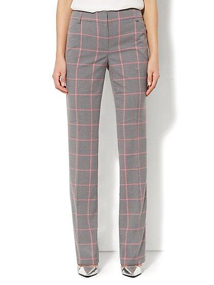 Bleecker Street Straight Leg Pant - Tall - Brooke Plaid   - New York & Company