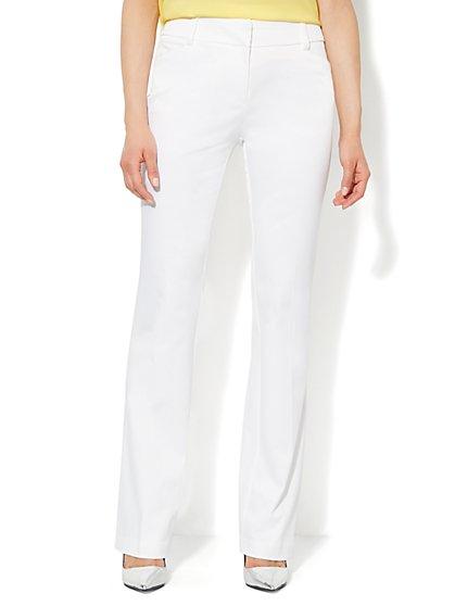 Bleecker Street Straight-Leg Twill Pant - Petite  - New York & Company