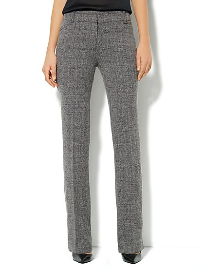 Bleecker Street Straight Pant - Heritage Tweed - Average - New York & Company
