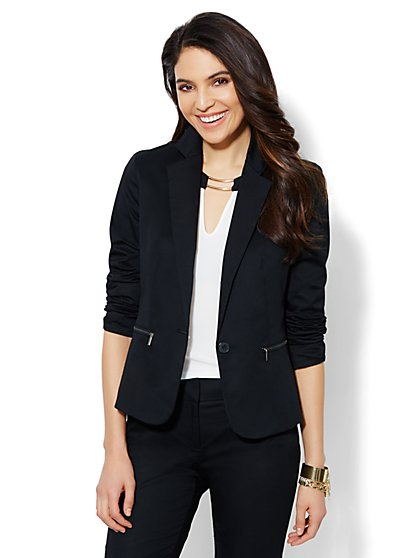 Bleecker Street Zip-Accent Jacket  - New York & Company