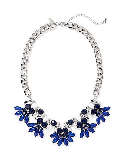 Blue Pendant Collar Necklace  - New York & Company
