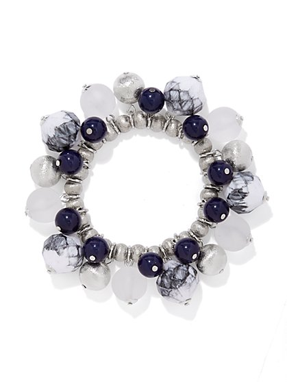 Blue & Silver Jangle Bracelet