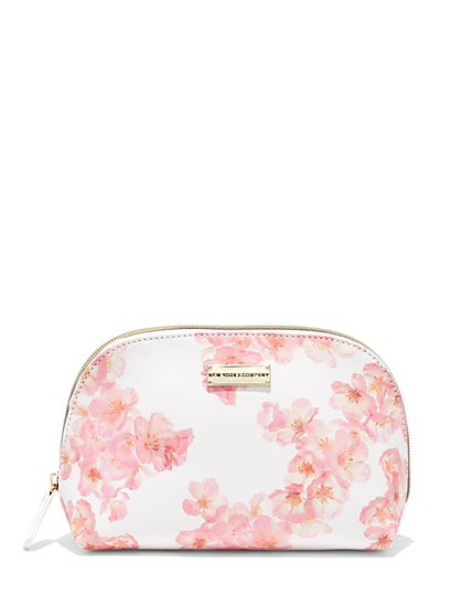 Blush Floral Cosmetic Bag  - New York & Company