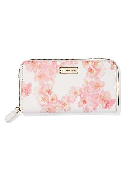 Blush Floral Wallet  - New York & Company