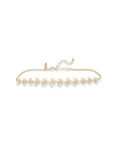 Blush Leaf Choker Necklace  - New York & Company