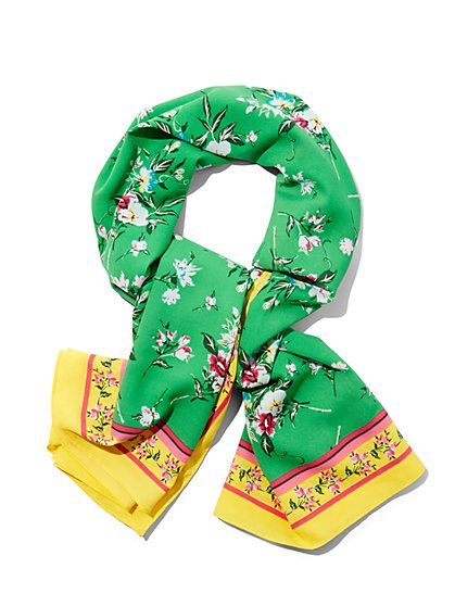 Border-Print Scarf - Floral  - New York & Company