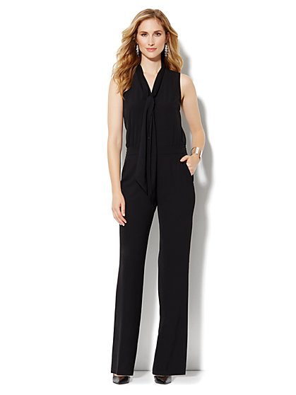Bow Blouse Jumpsuit - New York & Company