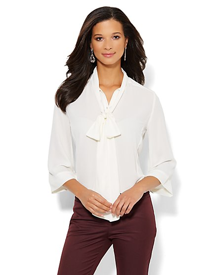 Bow-Front Blouse - New York & Company