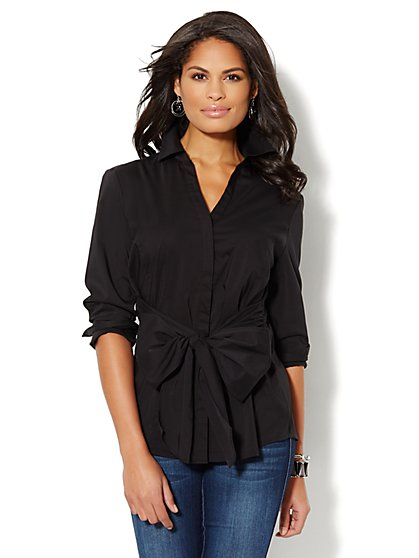 Bow-Front Shirt - New York & Company