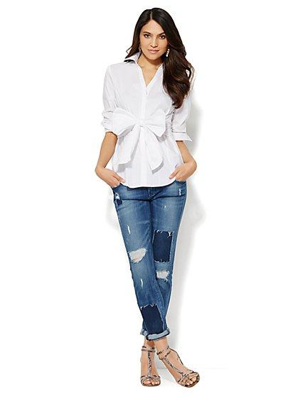 Bow-Front Shirt - New York & Company