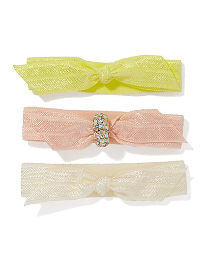 Bow Hair-Tie Set