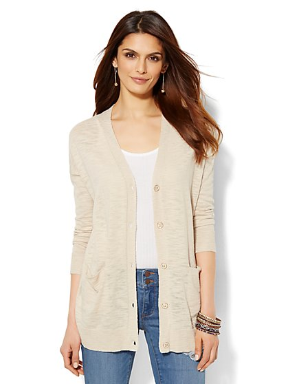 Boyfriend Cardigan - Solid  - New York & Company
