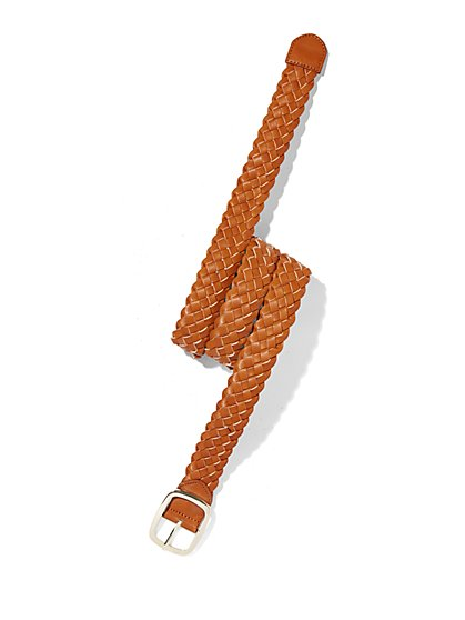 Braided Belt - Cognac  - New York & Company
