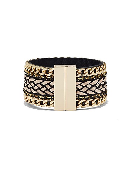 Braided Chain-Link Cuff Bracelet  - New York & Company