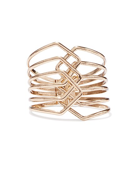 Braided Hinge Cuff Bracelet  - New York & Company