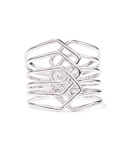 Braided Hinge Cuff Bracelet  - New York & Company