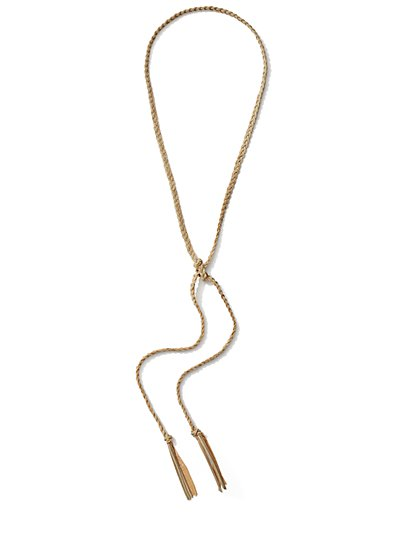 Braided Lariat Necklace  - New York & Company
