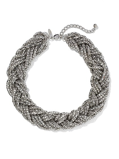 Braided Mesh Choker Necklace  - New York & Company