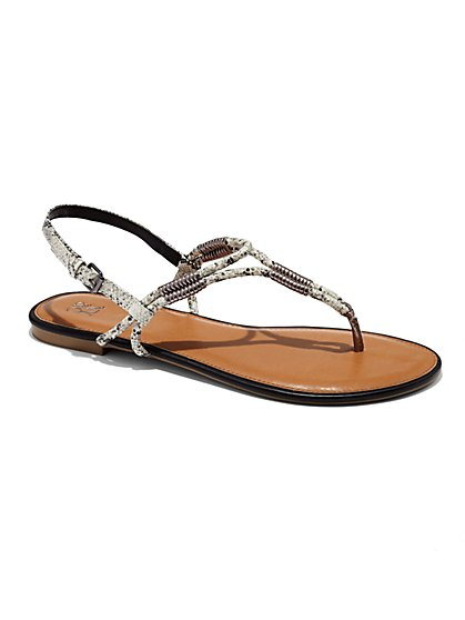 Braided Thong Sandal  - New York & Company