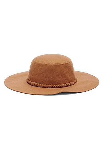 Braided-Trim Hat - Camel - New York & Company