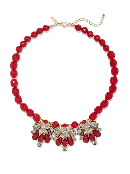 Briolette Faux-Stone Necklace  - New York & Company