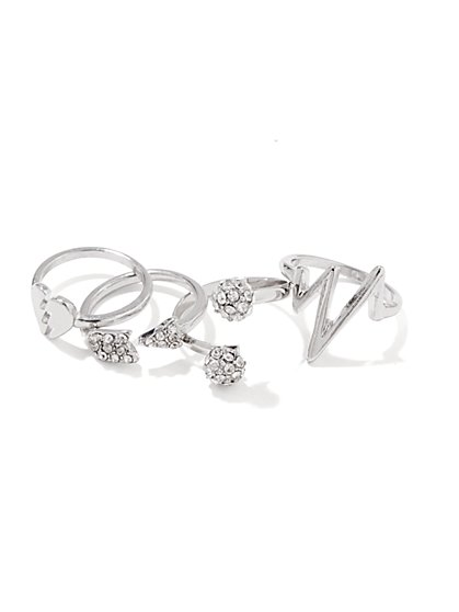 Broken-Heart Ring Set - New York & Company