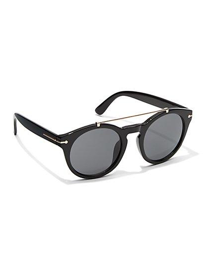Brow Bar Round-Frame Sunglasses  - New York & Company