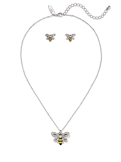 Bumblebee Necklace & Earring Set  - New York & Company