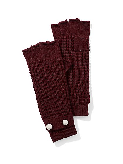 Button-Accent Gloves  - New York & Company