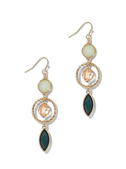 Cable Circle Triple-Drop Earring  - New York & Company