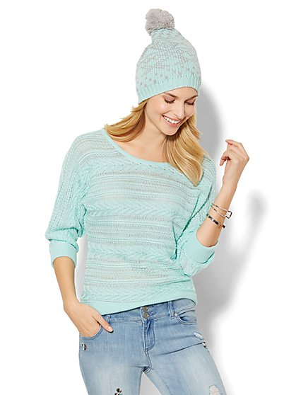 Cable Dolman Sweater - New York & Company