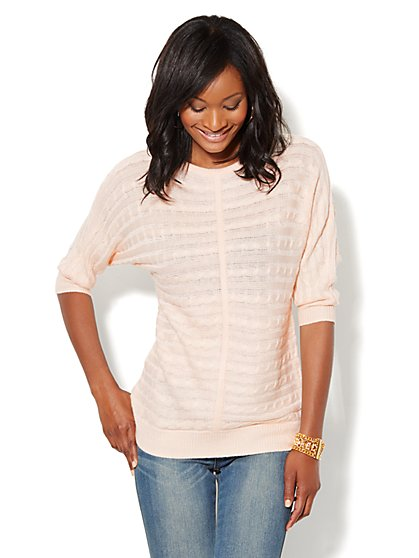 Cable-Knit Dolman Sweater - New York & Company