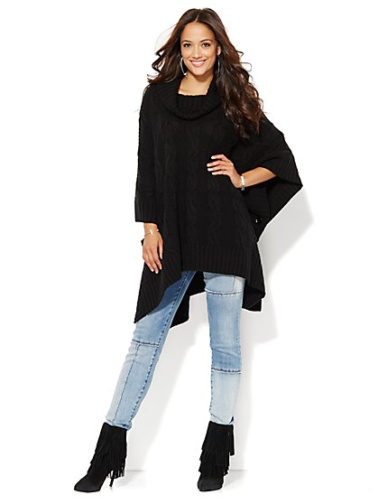 Cable-Knit Poncho  - New York & Company