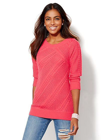 Cable-Knit Tunic  - New York & Company