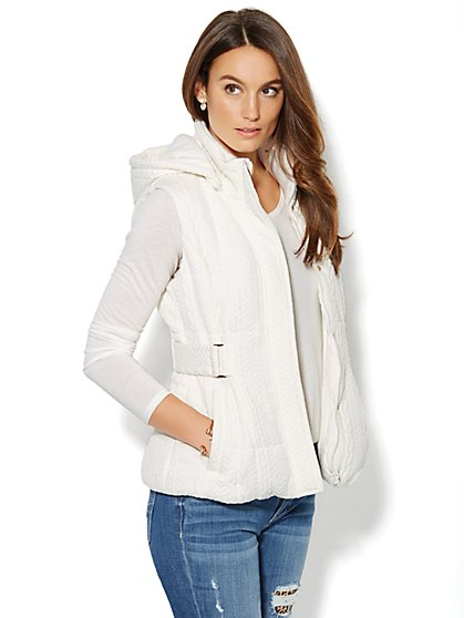 Cabled Puffer Vest  - New York & Company