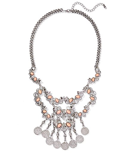 Cabochon Bib Necklace  - New York & Company