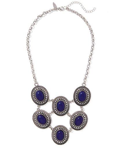 Cabochon Bib Necklace  - New York & Company