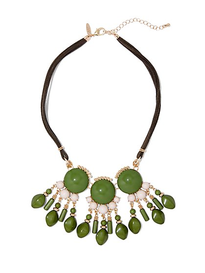 Cabochon Cord Necklace  - New York & Company