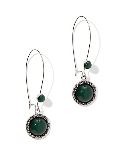 Cabochon Drop Earring